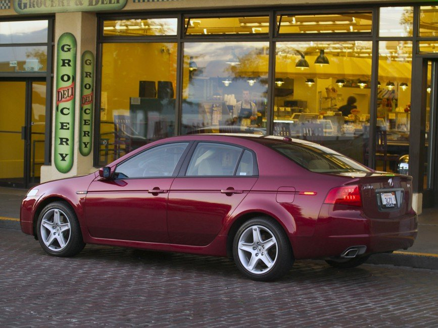 Acura Tl 2004 Burgundy Side View Style Cars Building Street 867x650