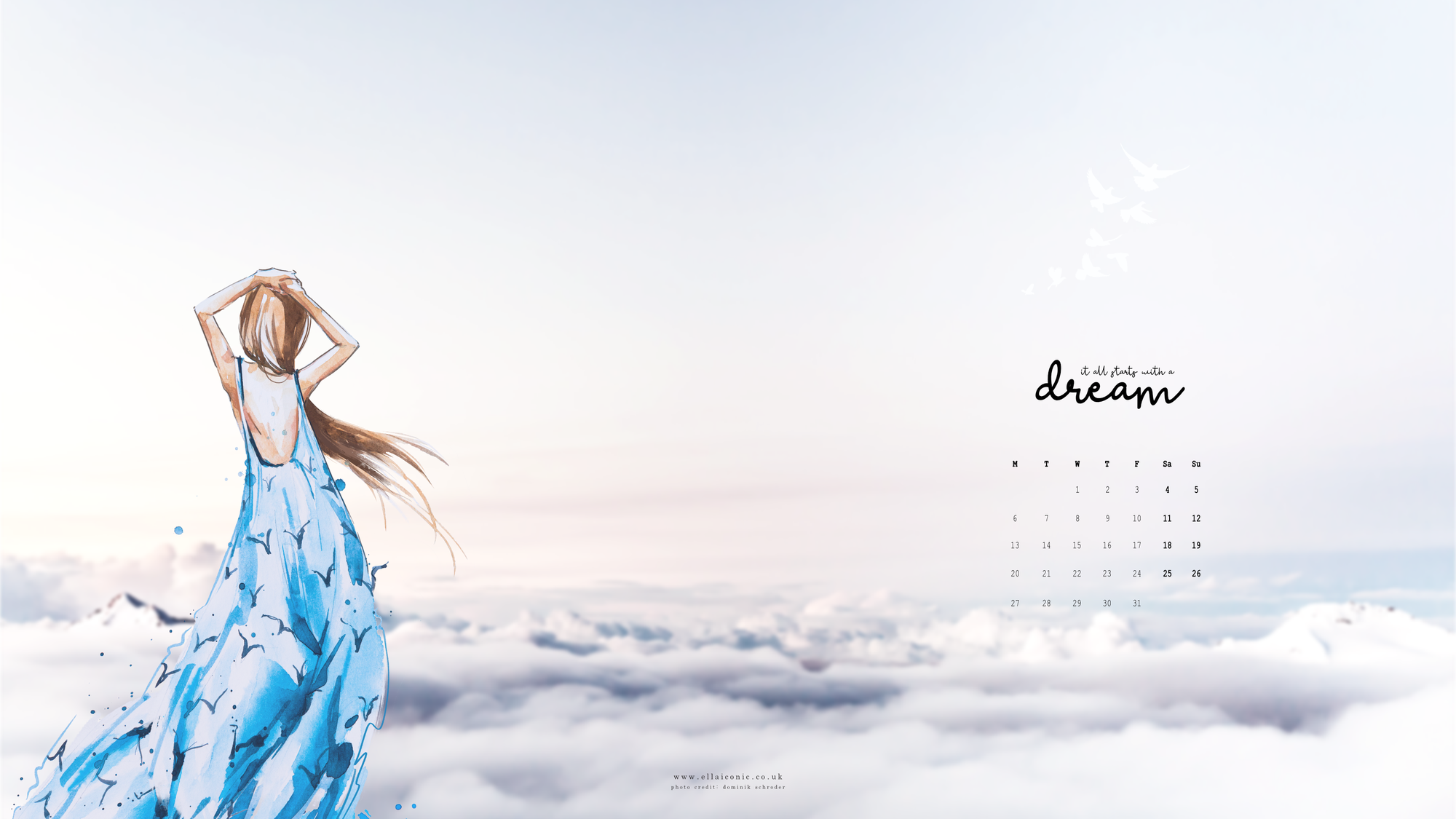 May 2019 Desktop Wallpaper Download Ella Iconic 2000x1125
