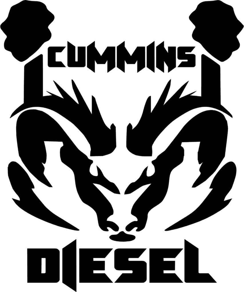 Cummins Diesel Ram Dodge Logo Vinyl Decal Sticker   8BitThiscom 853x1024