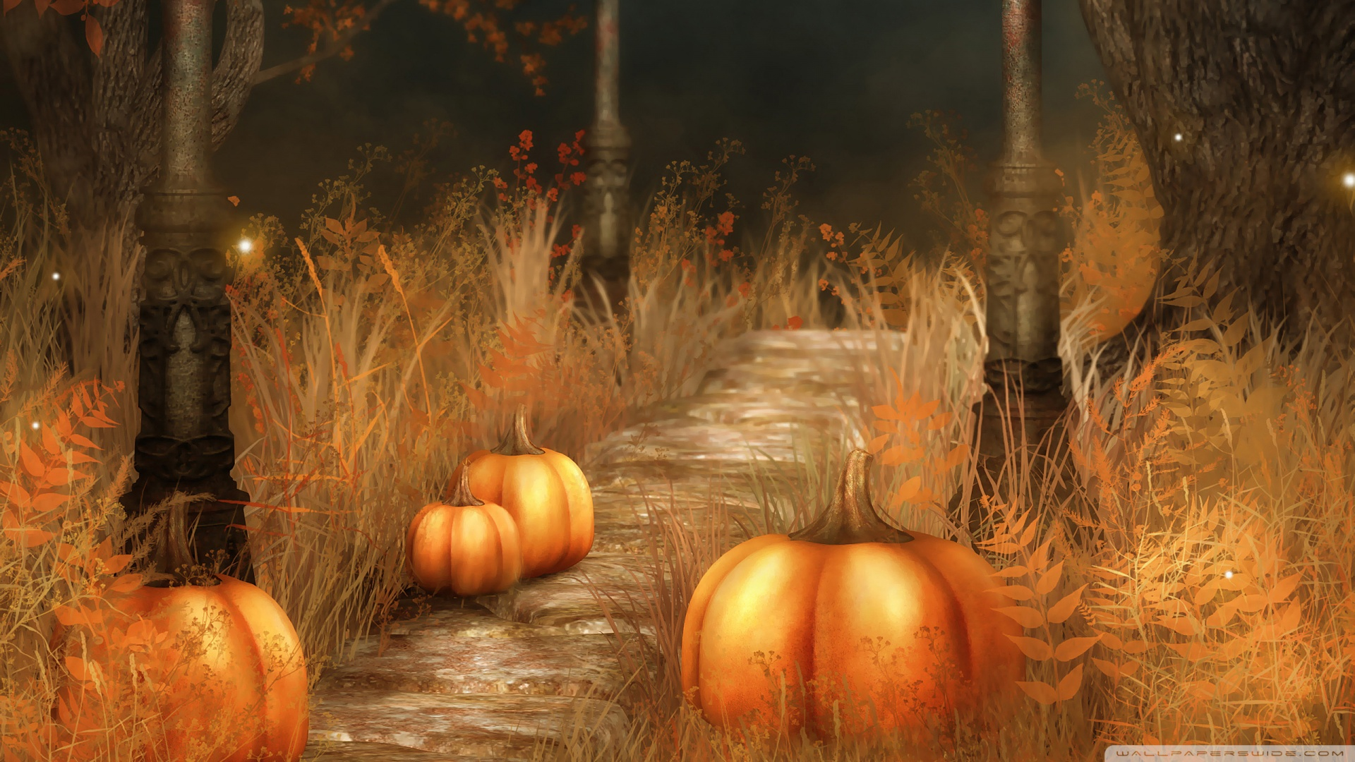 Pumpkins Halloween Wallpaper Download 1920x1080