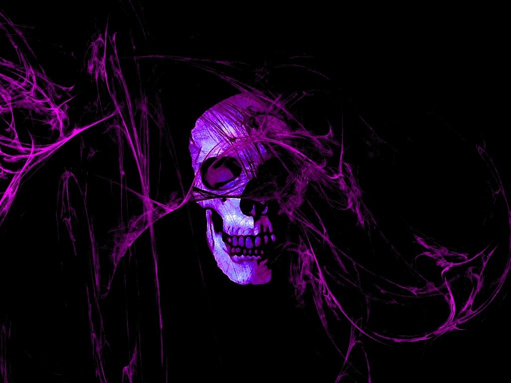 42 Purple Skull Wallpaper On Wallpapersafari