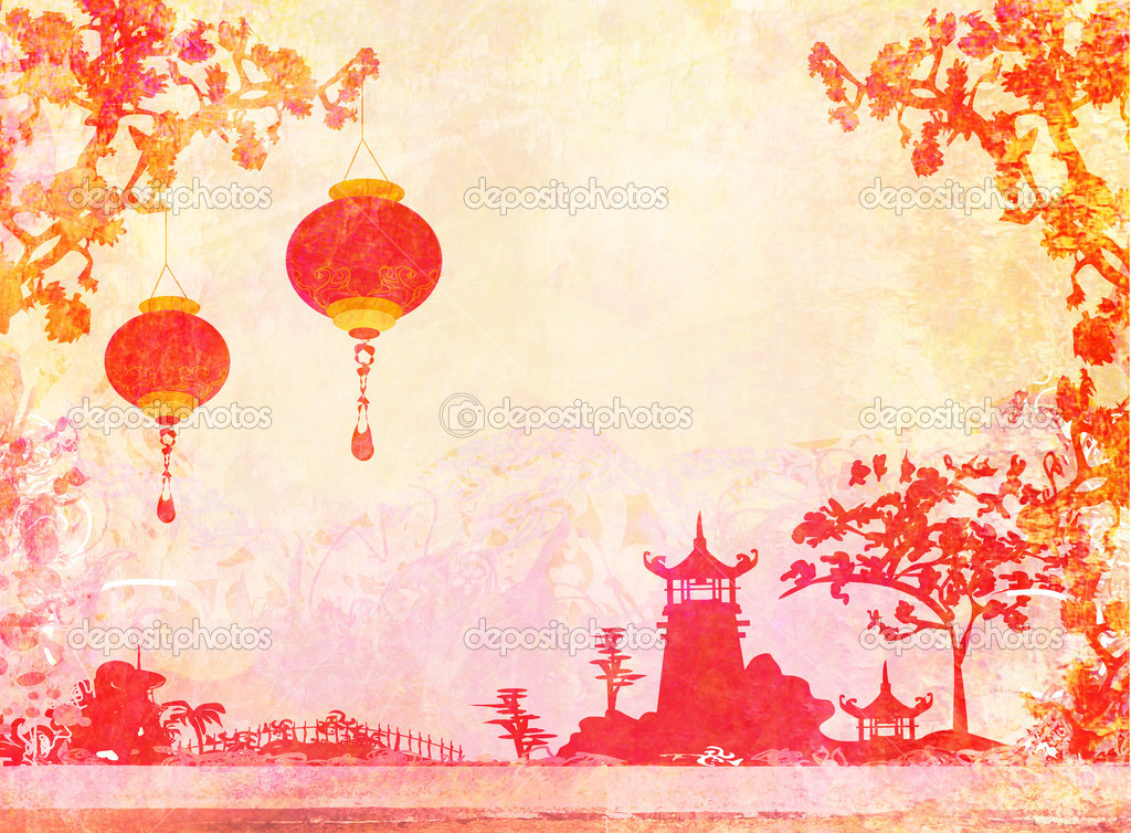 Asian inspired wallpaper wallpapersafari for Oriental style wallpaper uk