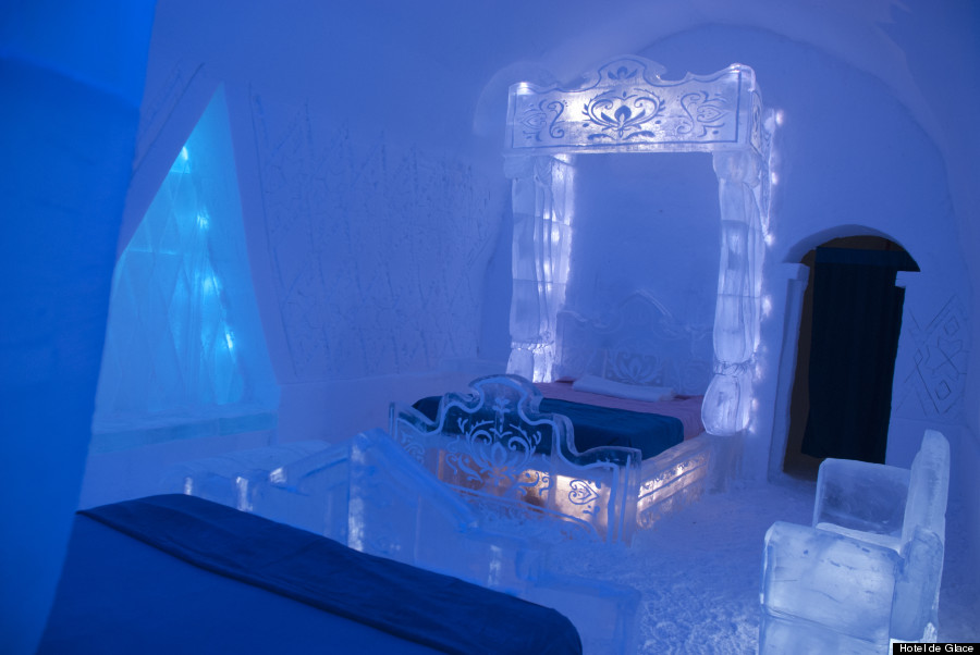 Frozen Suite at Hotel De Glace Is Super Cool 900x602