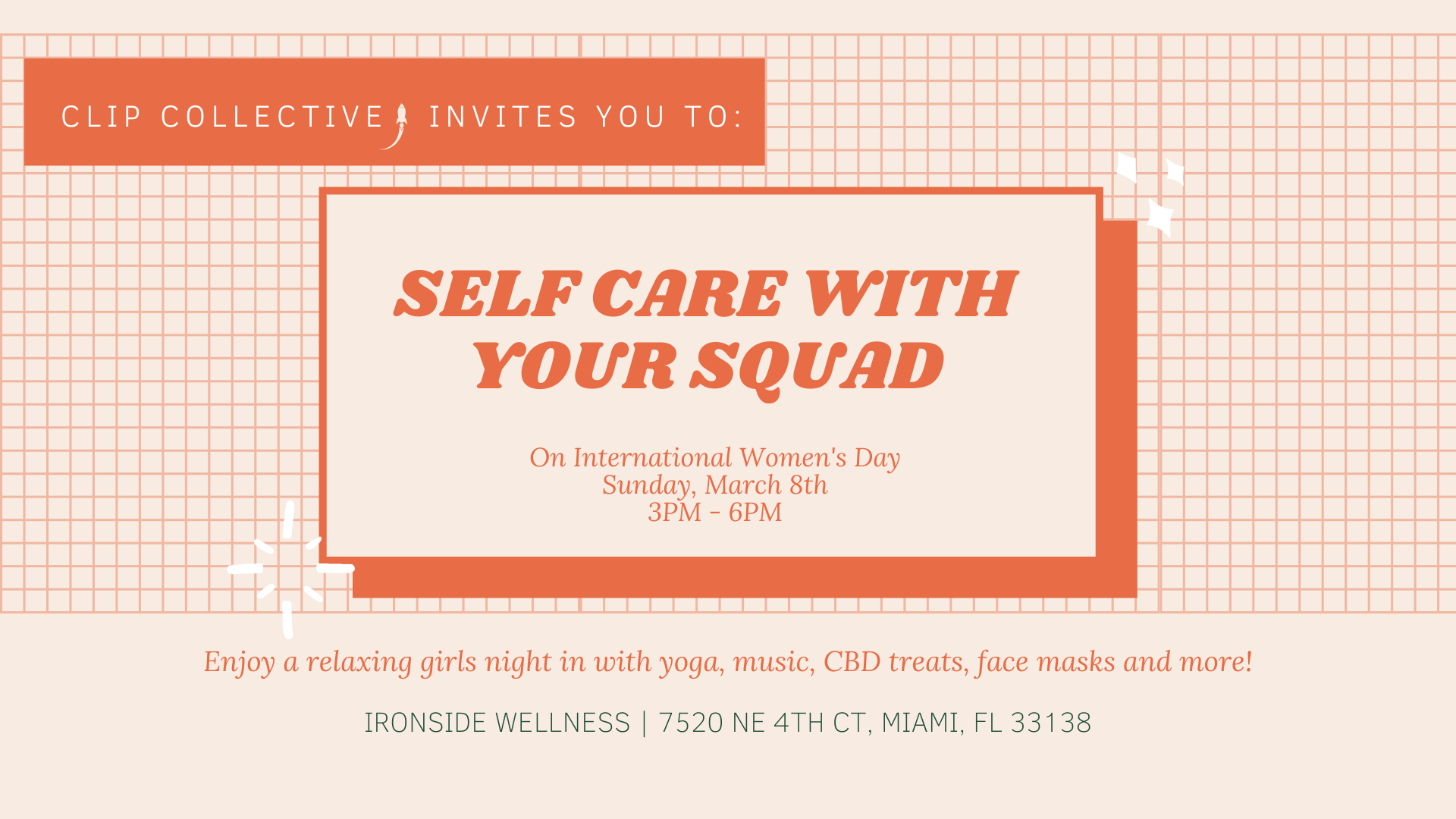 International Womens Day CBD Self Care With Your Squad Tickets 1920x1080