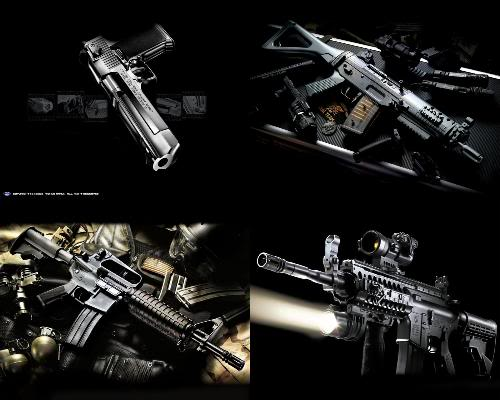 Wallpaper Gun Wallpaper 500x400