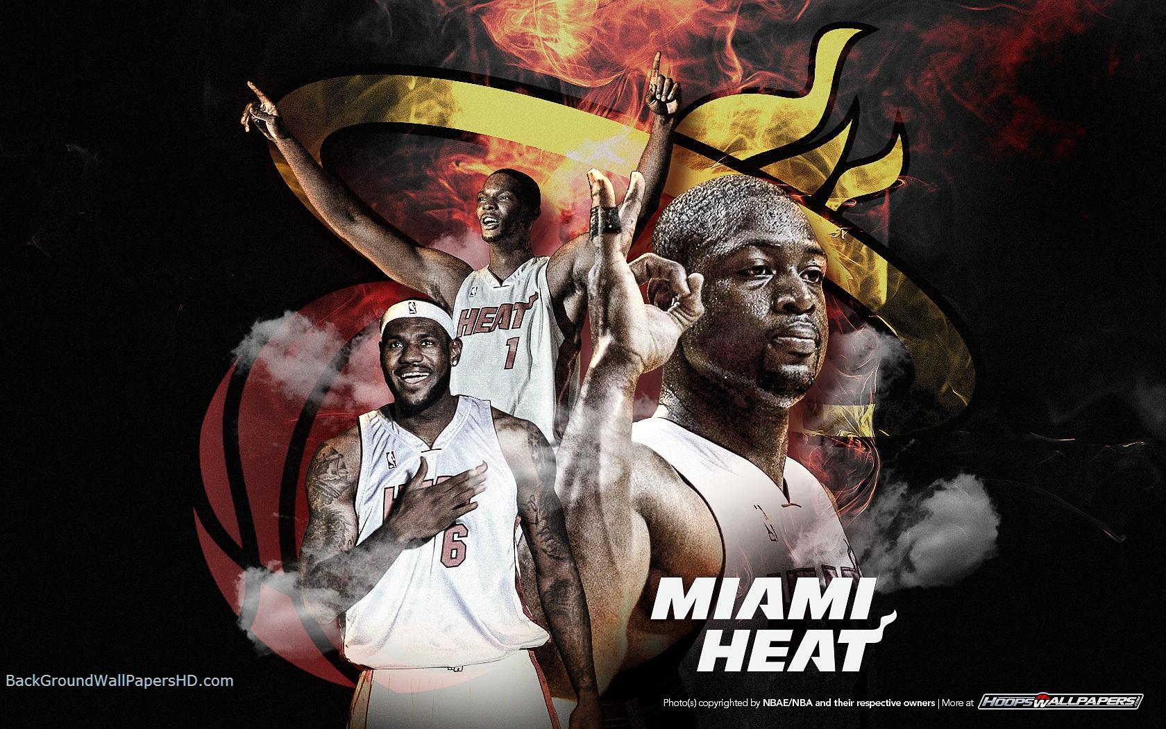 Miami Heat Basketball HD Wallpaper Miami Heat Three Ling Wallpaper HD 1680x1050