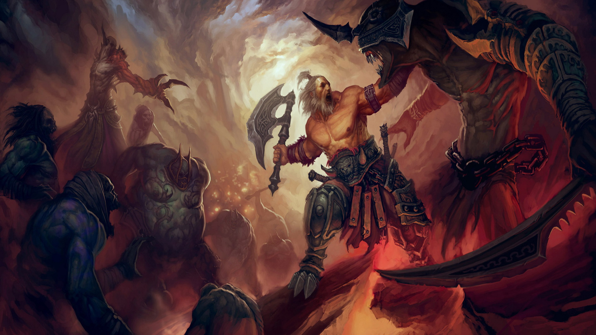 Diablo 3 Wallpaper Diablo a barbarianjpg 1920x1080