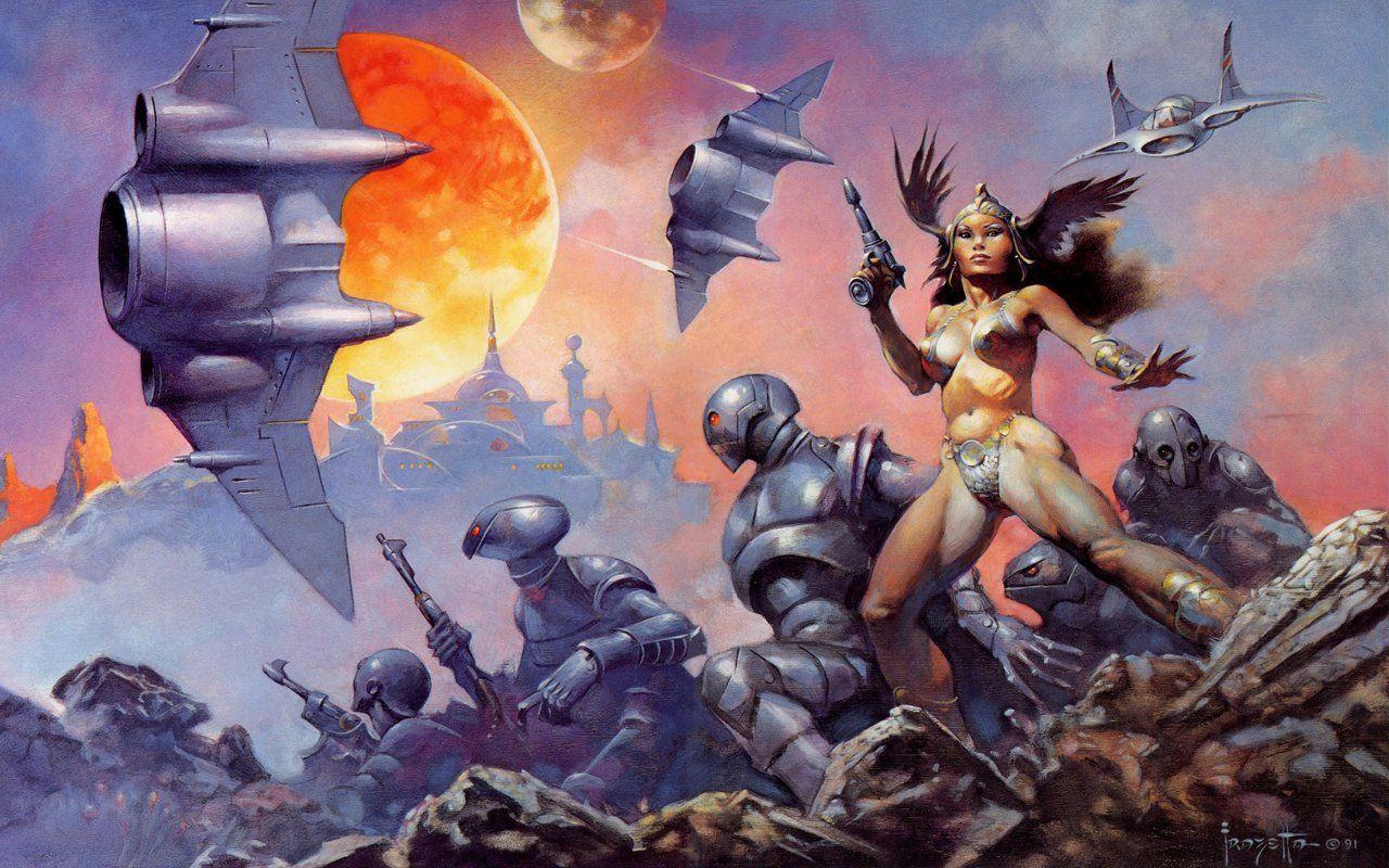 Fantasy Daruma Frank Frazetta Dawn Attack picture nr 44573 1280x800