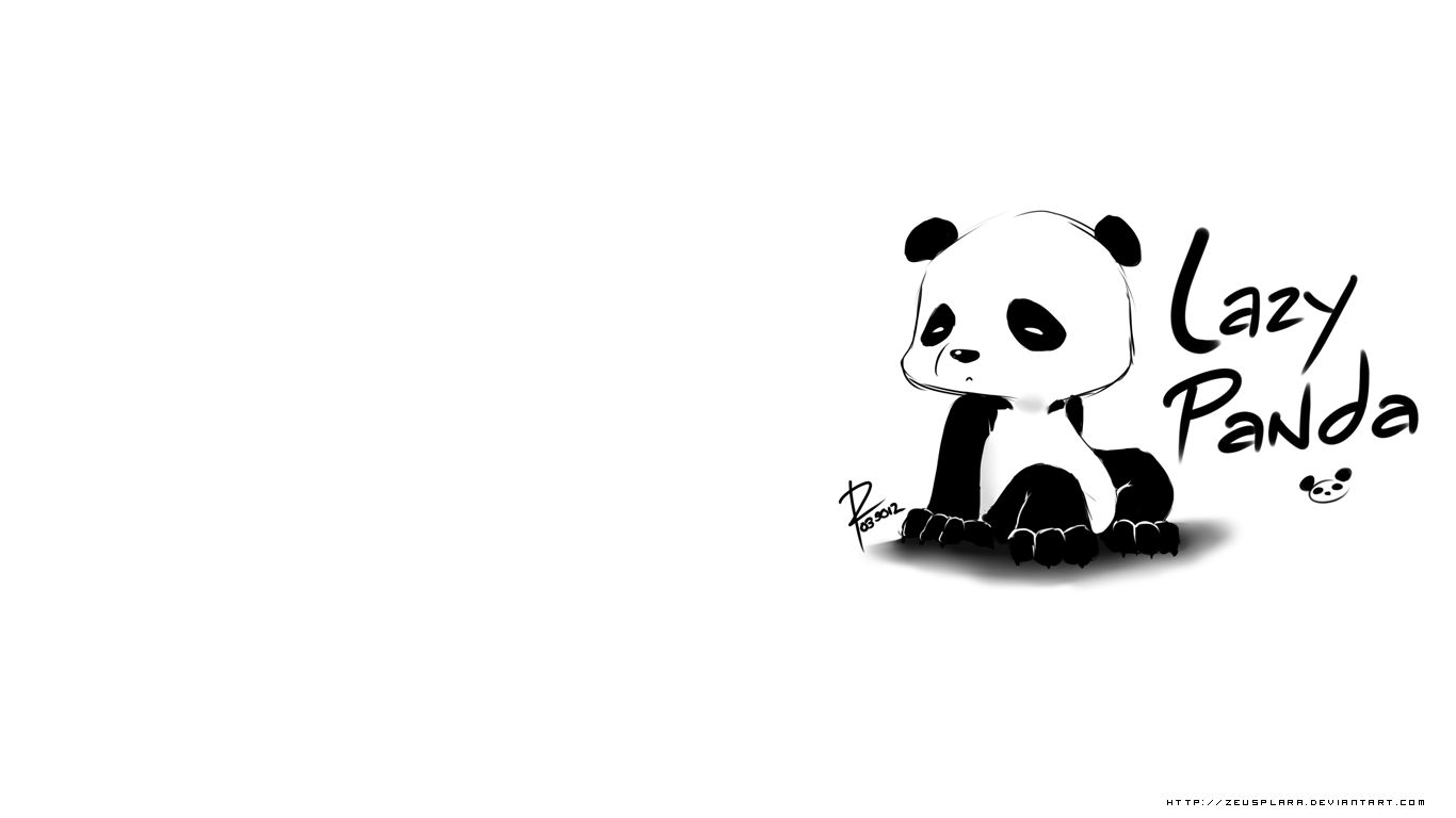 Lazy Panda Wallpaper 10344 Cool Walldiskpapercom 1366x768