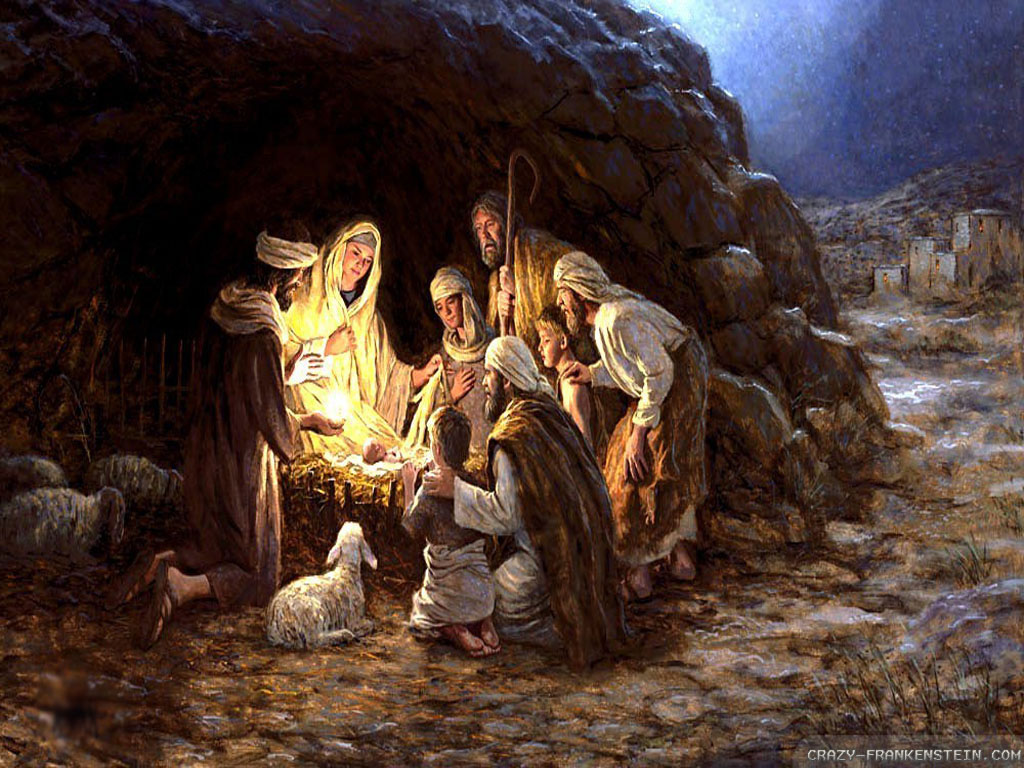 Christmas Nativity Wallpaper Baby jesus christmas nativity 1024x768