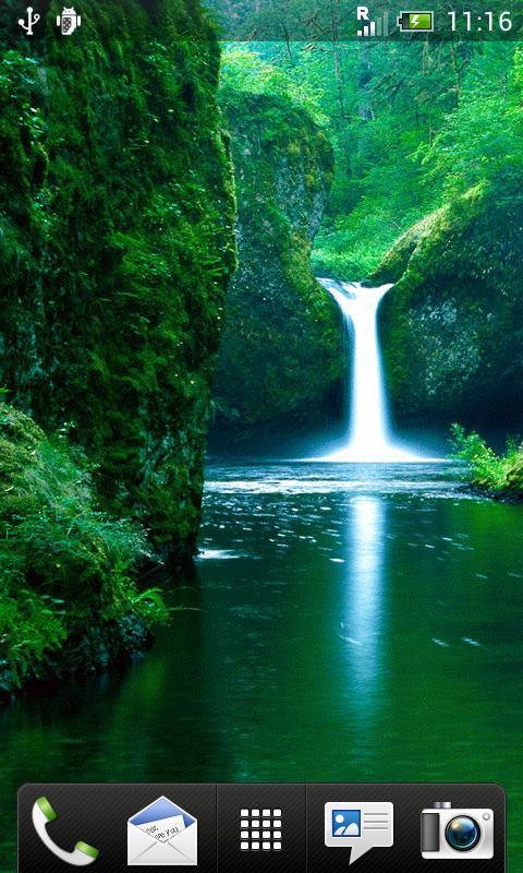 Waterfall Live Wallpaper 50 screenshot 0 480x800