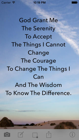 Serenity Prayer on the App Store on iTunes 320x568