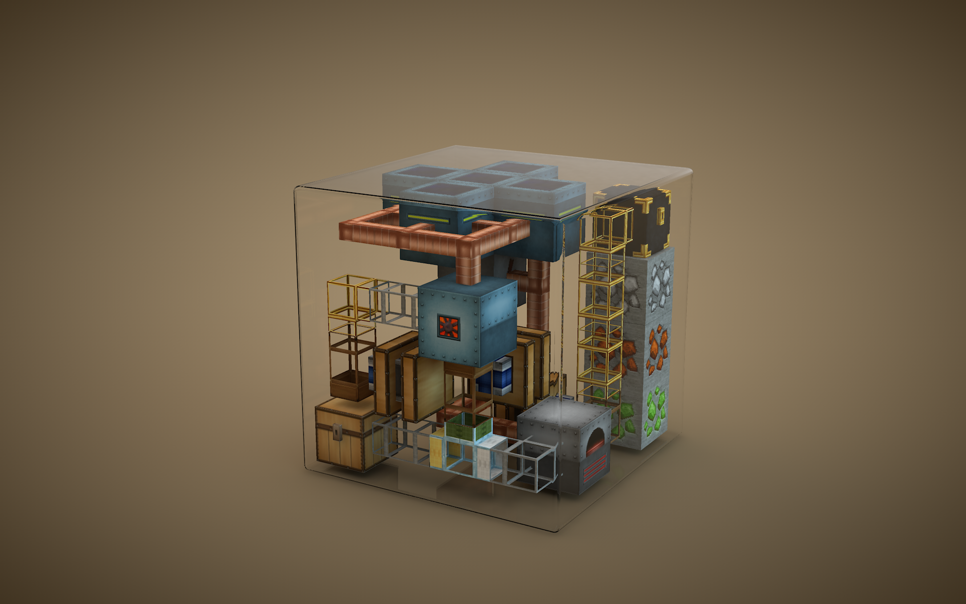 Minecraft 3d minimal wallpaper 1920x1200 42406 WallpaperUP 1920x1200