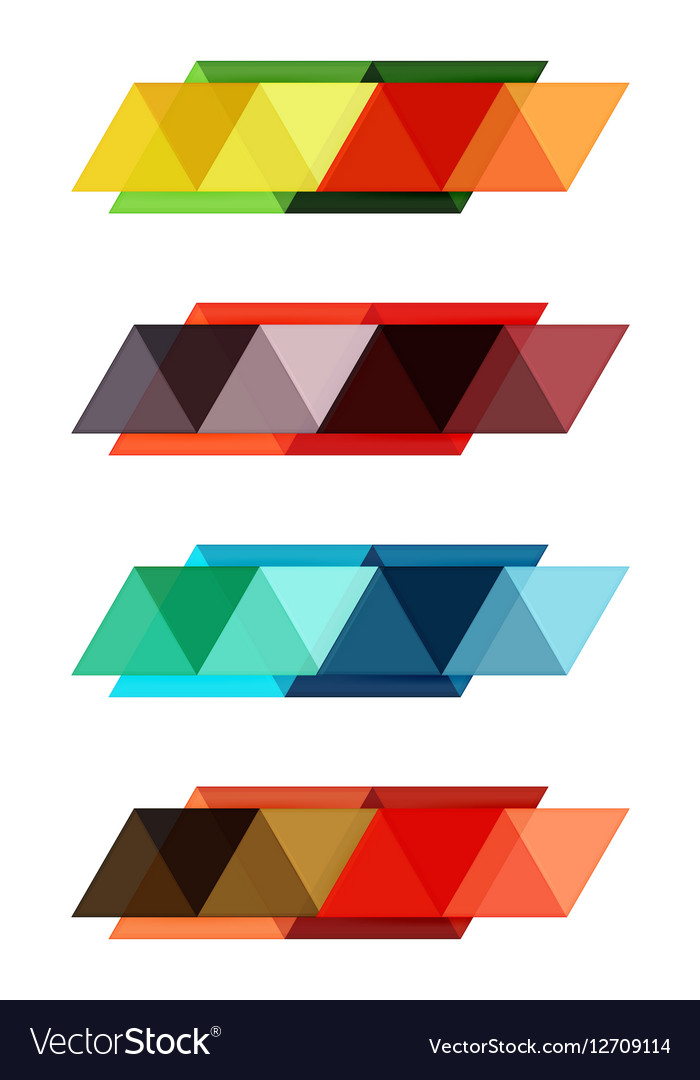 Blank triangle infographic backgrounds Royalty Vector 700x1080