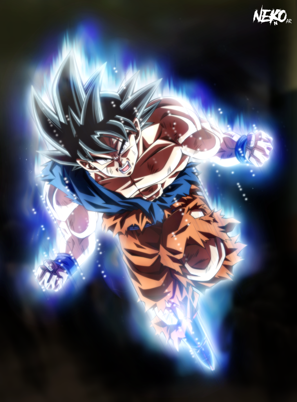 Ultra Instinct Goku wtf by NekoAR 1024x1385
