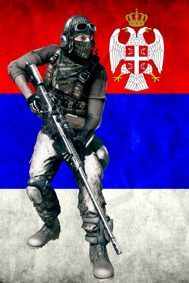 BF3 Serbia Wallpaper iPhone by andjelo3 640x960