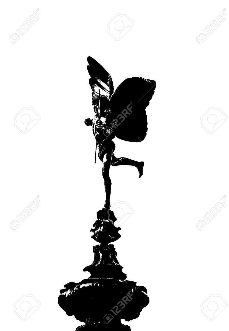 Eros Of Piccadilly Circus On White Background Stock Photo Picture 901x1300