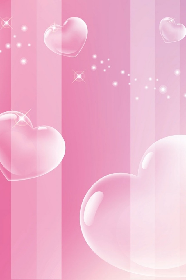 Free Download Pink Love Hearts Background Pink Love Heart