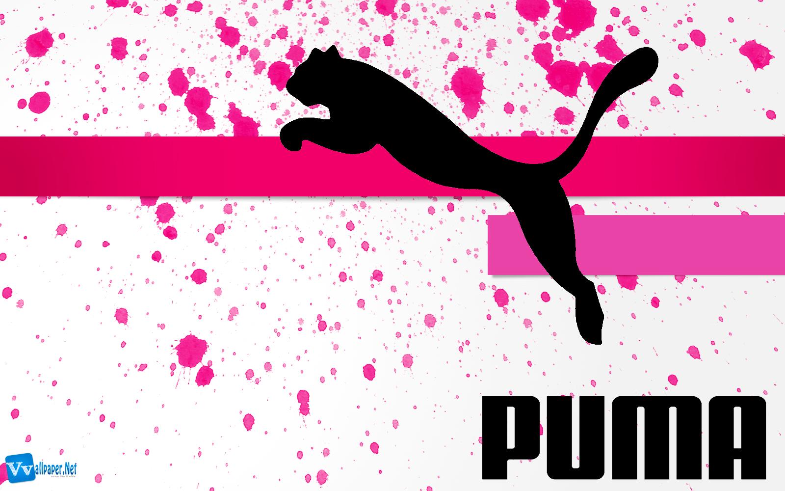 Puma Logo Original Brand Design Paint Splash Wallpaper 1600x1000