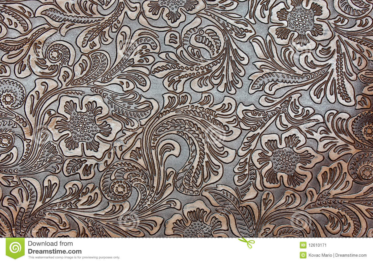 Tooled Leather Background Detail of fancy tooled leather 1300x919