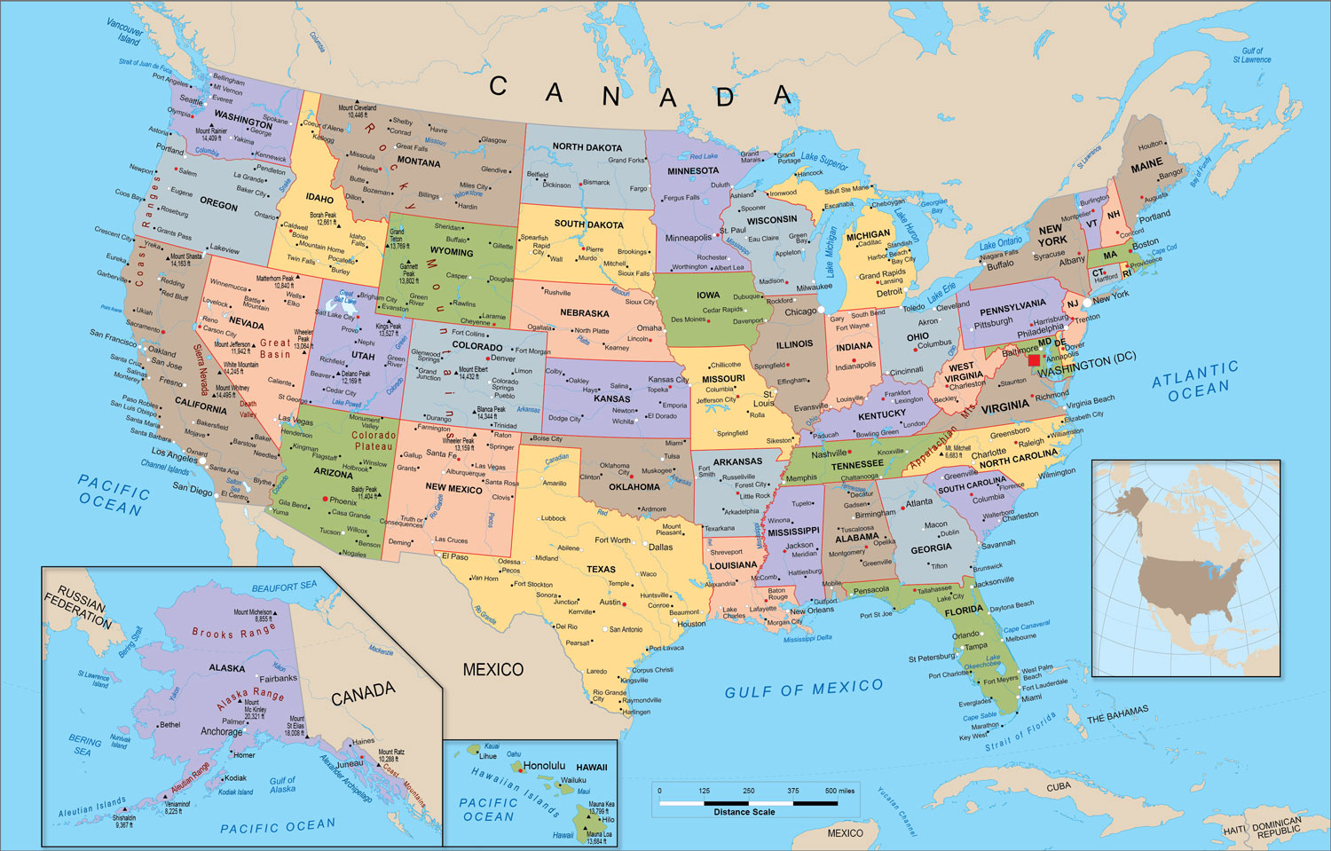 Free download United States Political Map Wall Mural up to ...