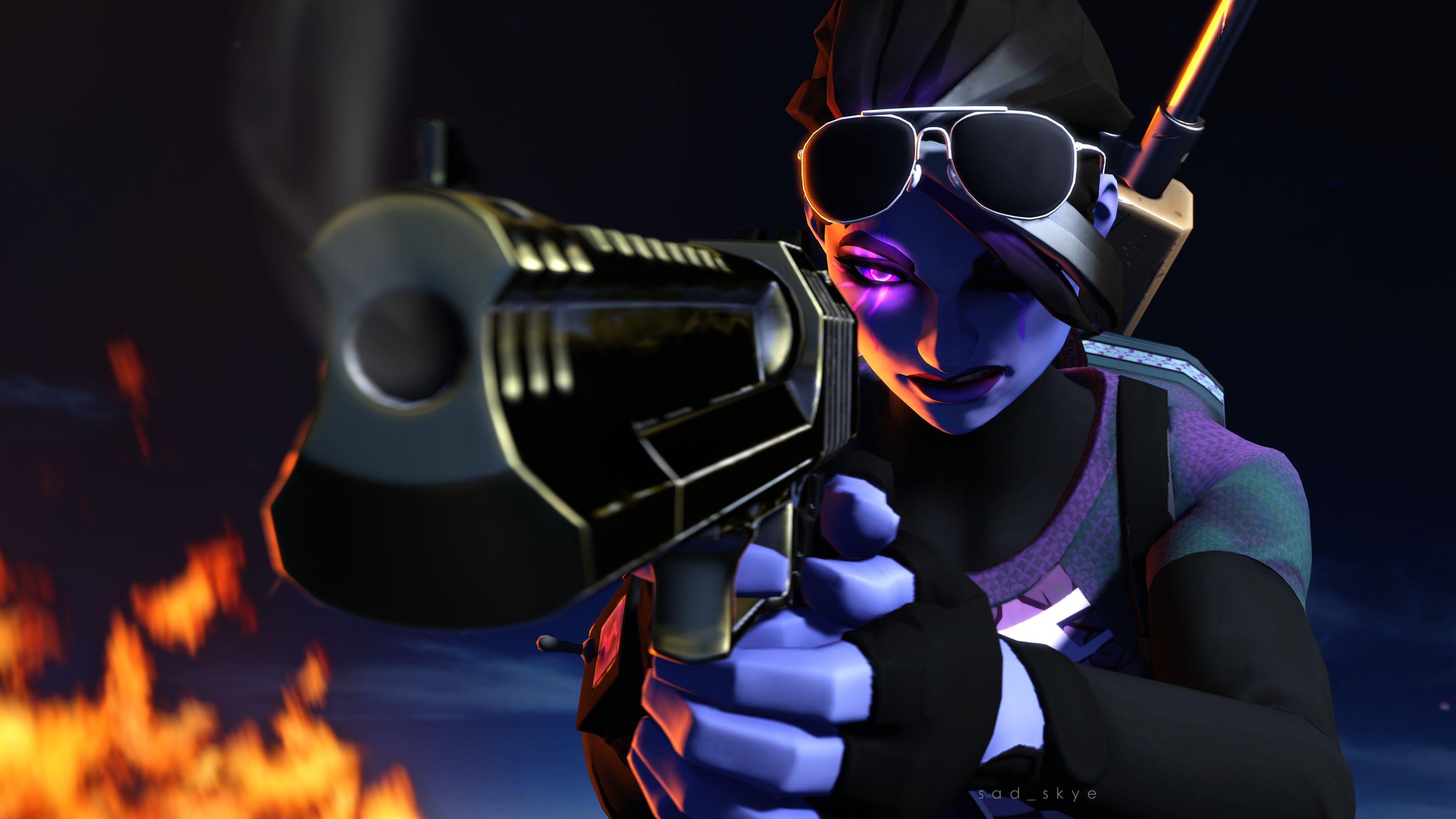 Dark Bomber Pistol Fortnite Battle Royale 4K 27350 Battle 3840x2160