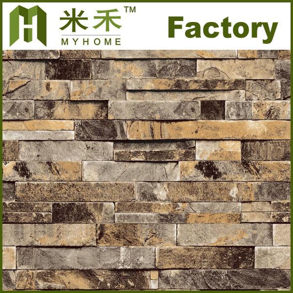 L91302 popular PVC stone 3D wallpaper View stone 3D wallpaper Myhome 600x600