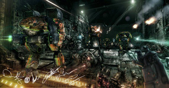 MechWarrior Online Clan Invasion Signed Art 570x298