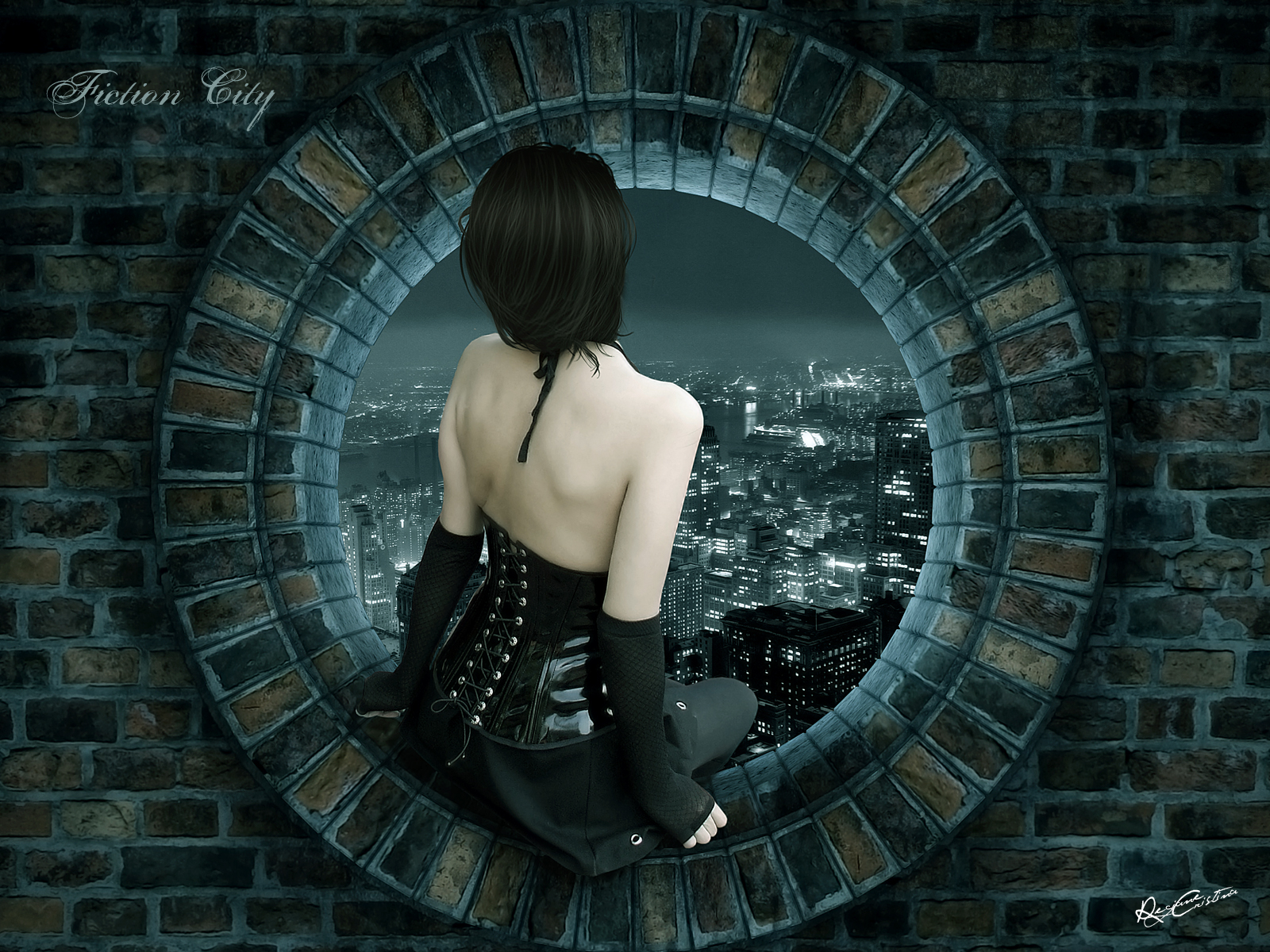 fiction city wallpaper by desideriasp customization wallpaper other 1600x1200