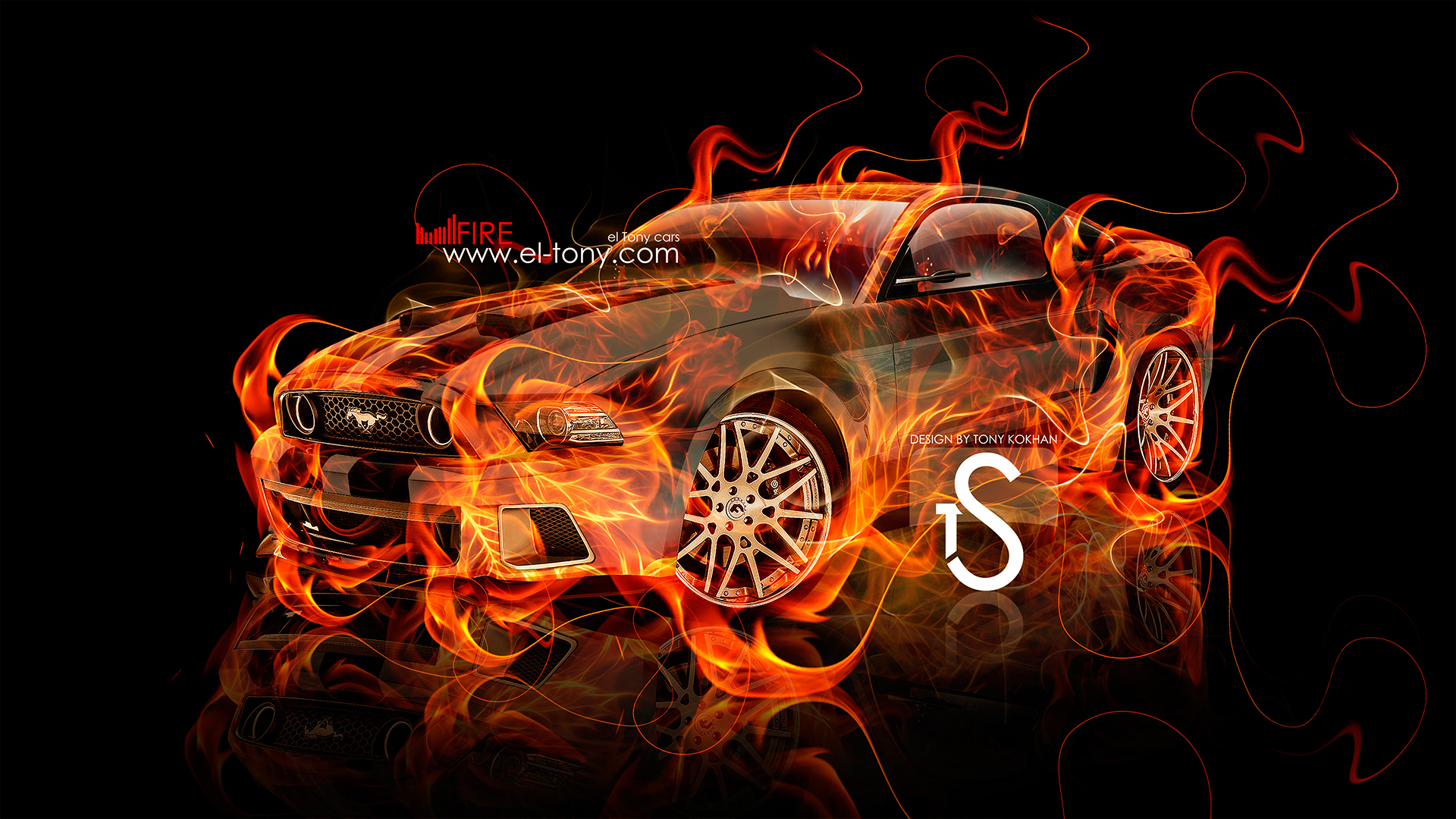 Blue Fire Abstract Car 2014 Art Hd Wallpapers Design Car Pictures