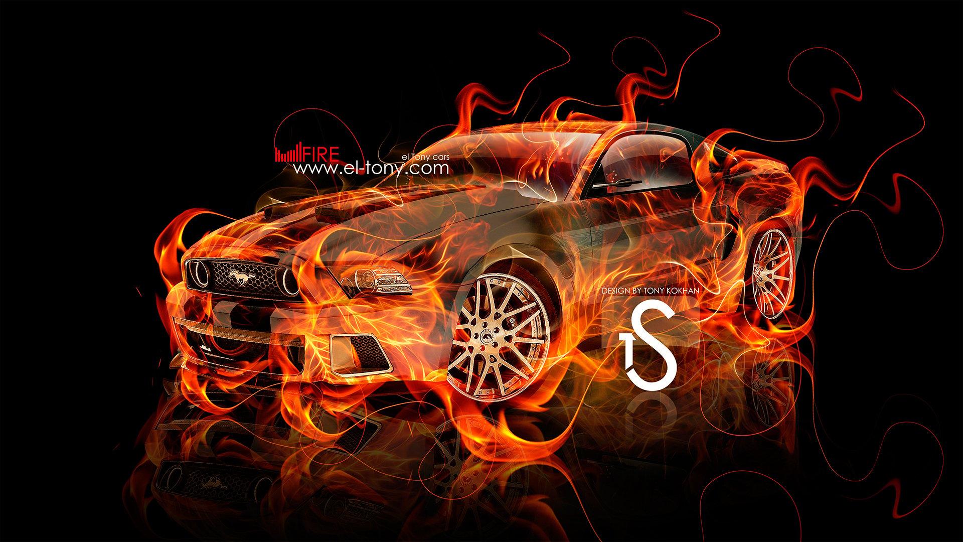 Abstract Race Car Art