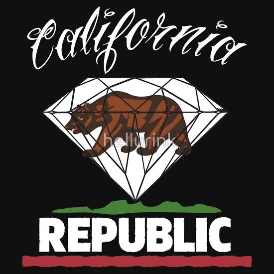 Diamond Republic of California T Shirts Hoodies by hellurink 550x550