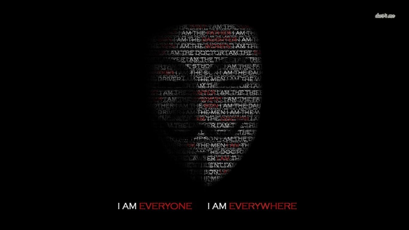 Anonymous Wallpaper 13...V For Vendetta Mask Wallpaper