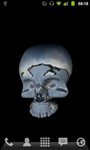 View bigger   3D Moving Skull Live Wallpaper for Android screenshot 307x512
