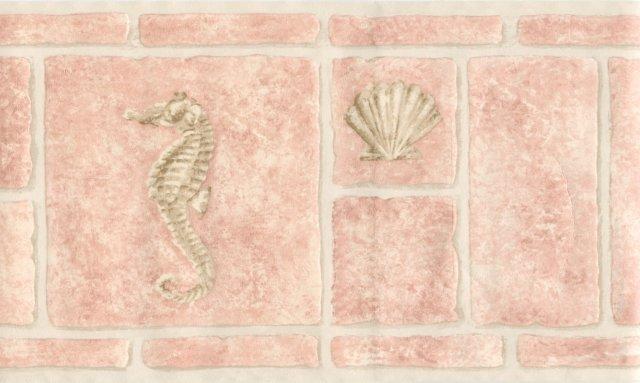 Pink Bathroom Tiles Wallpaper Border   Kitchen Bathroom Wallpaper 640x383