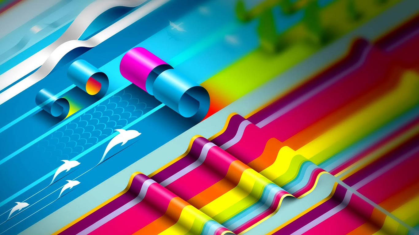 Graphic designs wallpaper 3d HD Wallpaper 1366x768