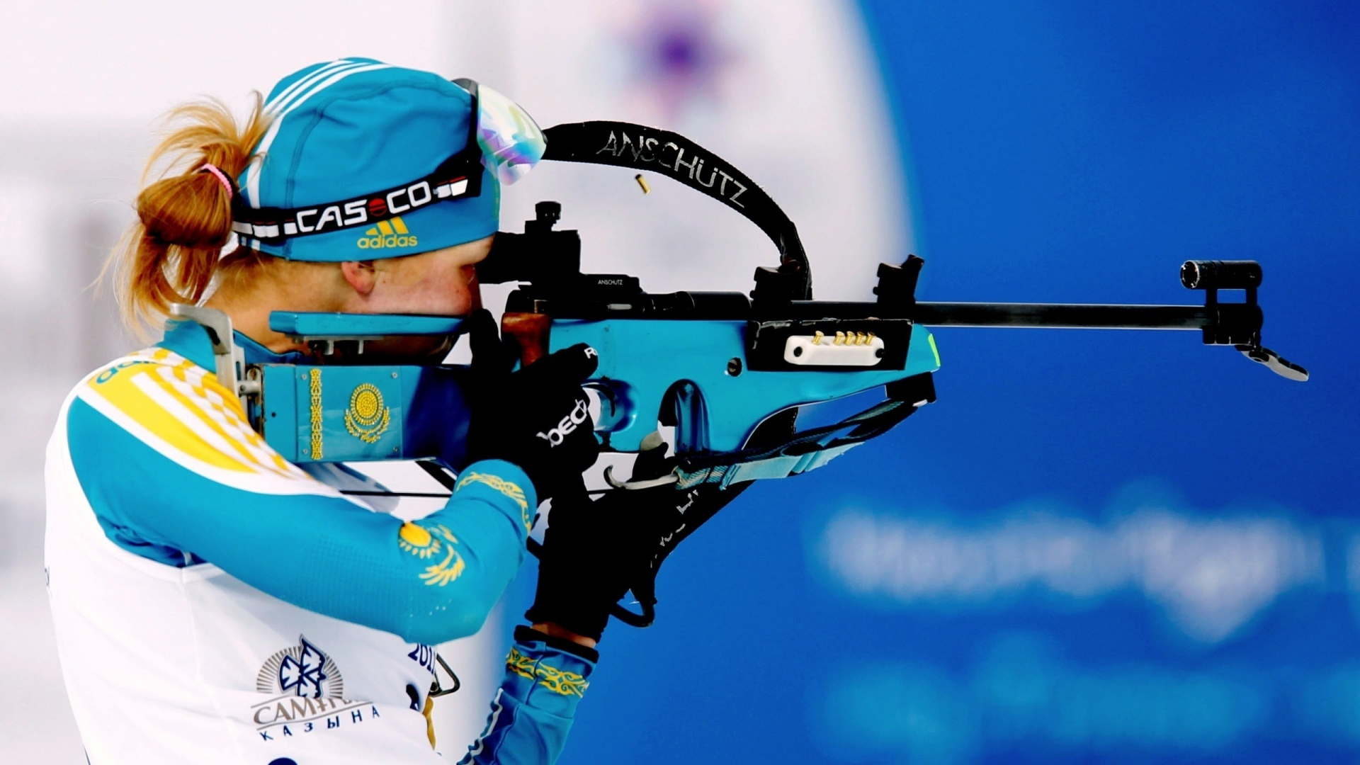 Full HD Wallpaper biathlon khrustaleva elena rifle Desktop 1920x1080