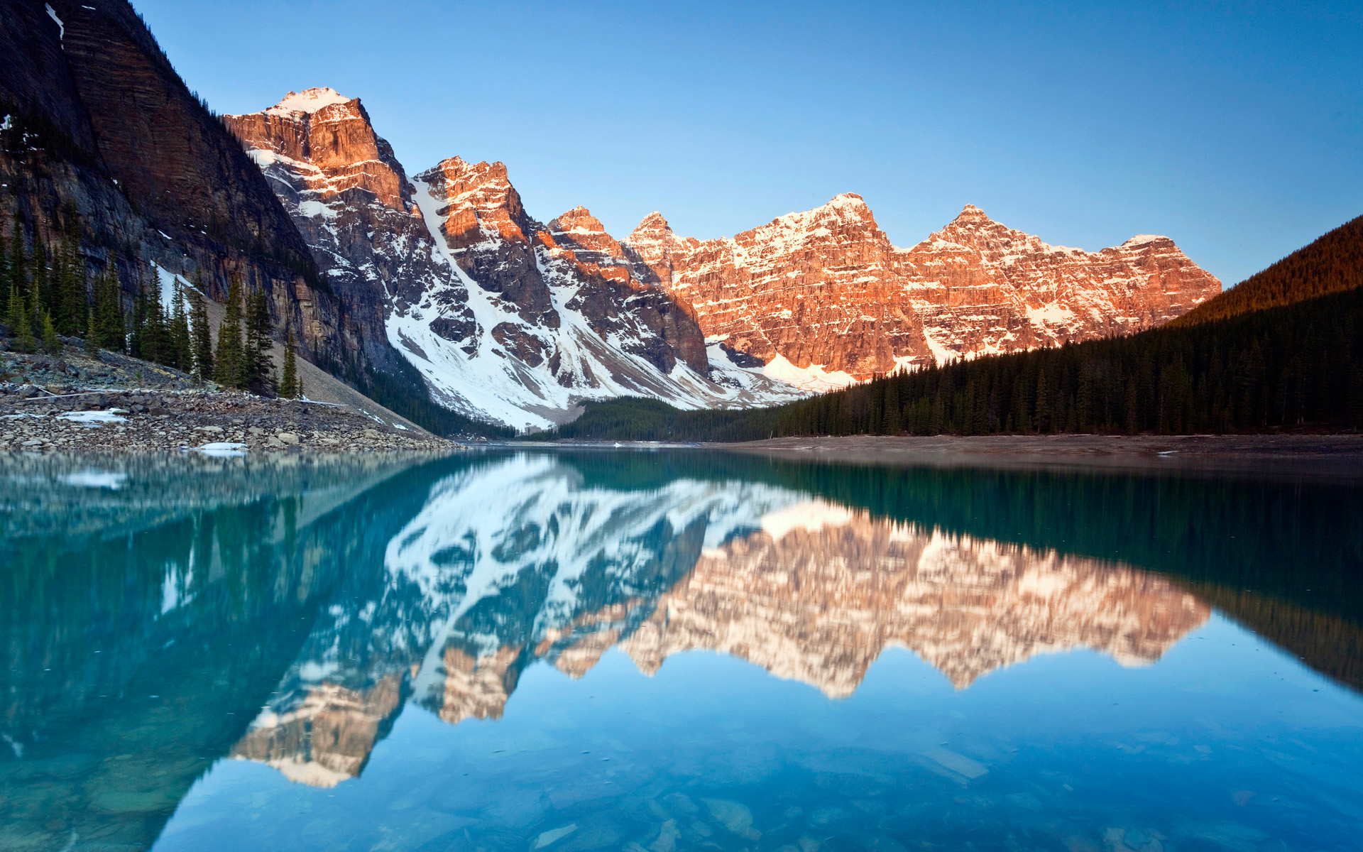 Moraine Lake Reflections Wallpapers HD Wallpapers 1920x1200