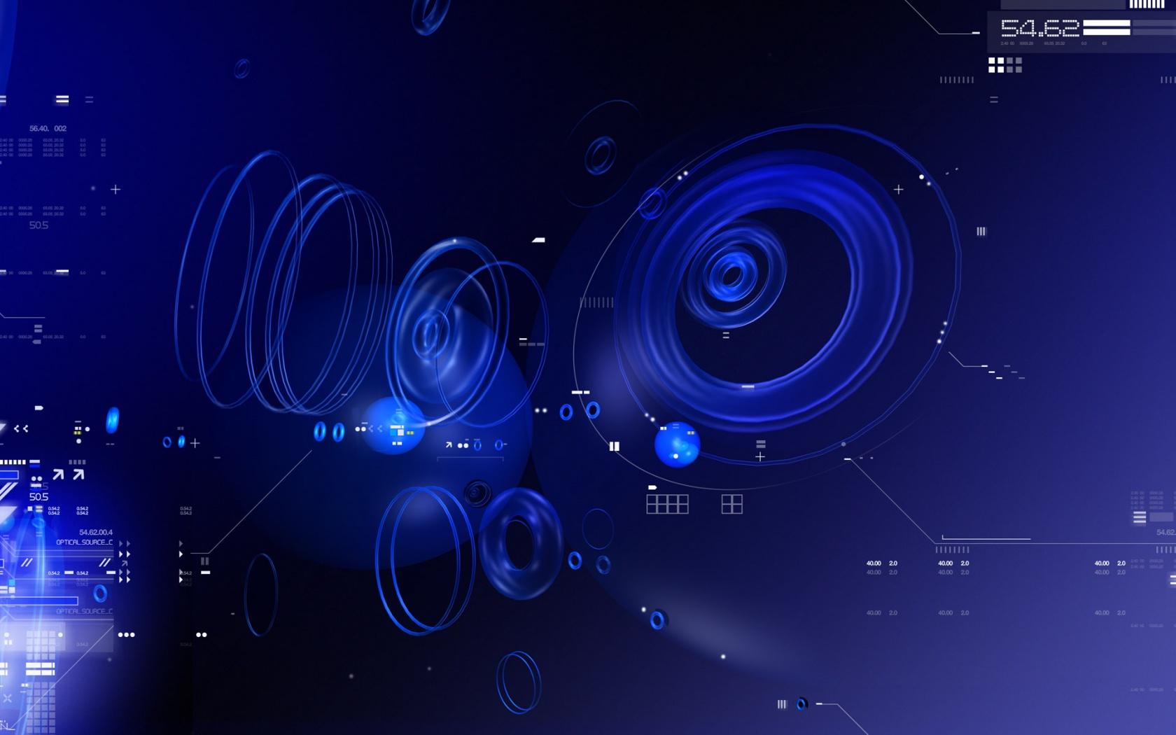 Blue Tech Circles Wallpapers HD Wallpapers 1680x1050