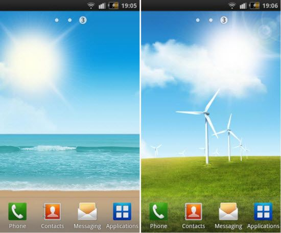 Download Samsung Galaxy S II Live Wallpapers for your Android Phone 550x456