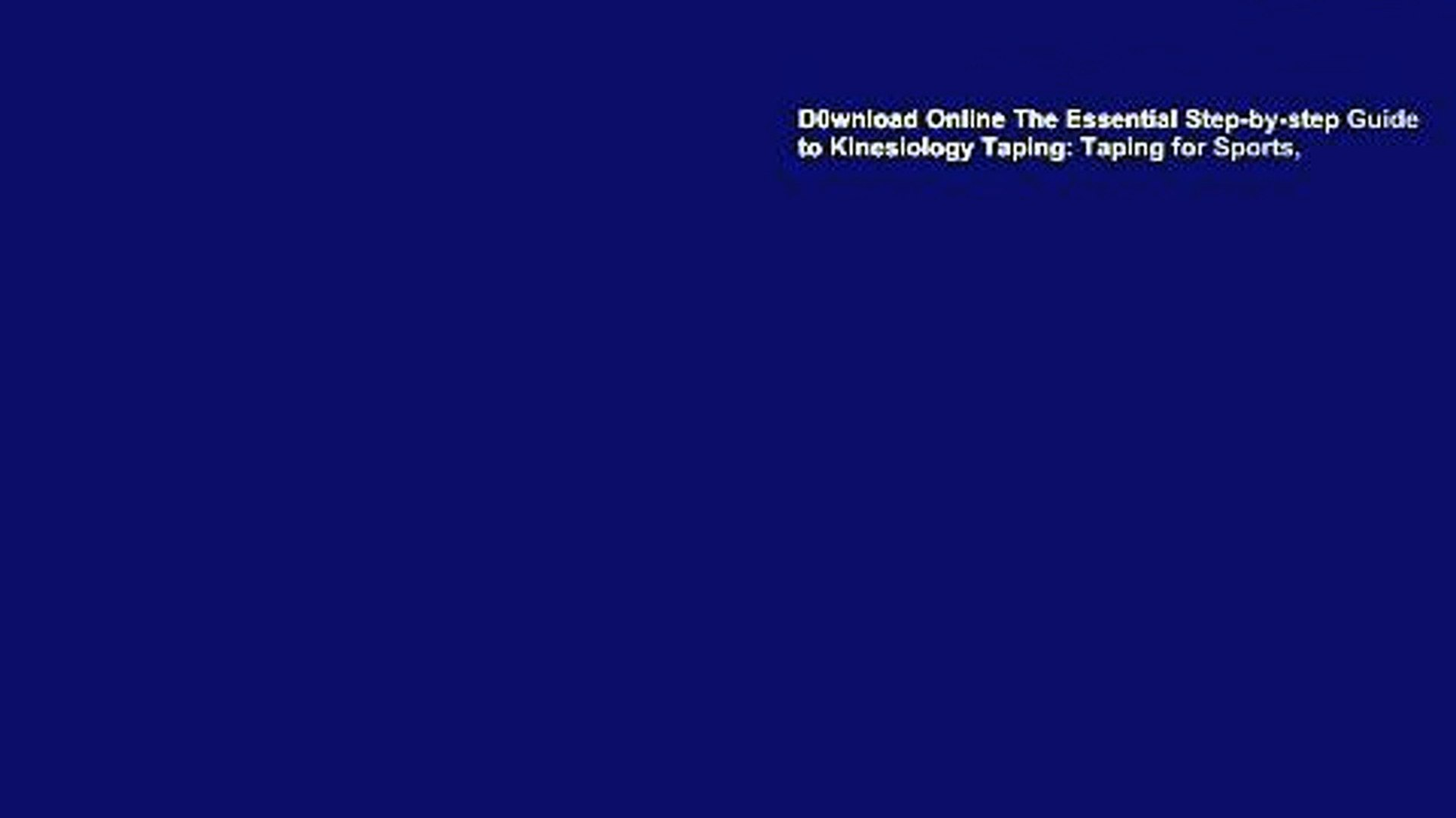 D0wnload Online The Essential Step by step Guide to Kinesiology 1920x1080