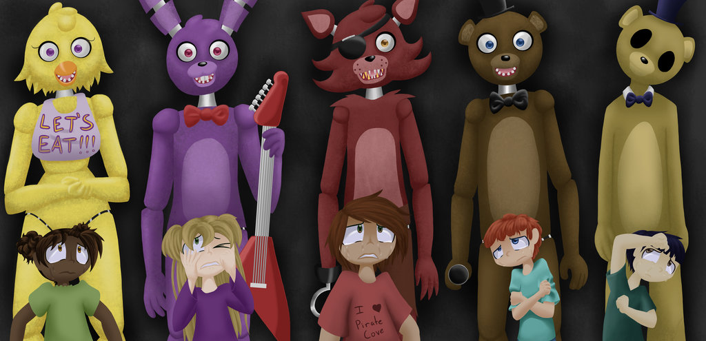 FNaF WALLPAPER The Children by InsanelyADD 1024x495