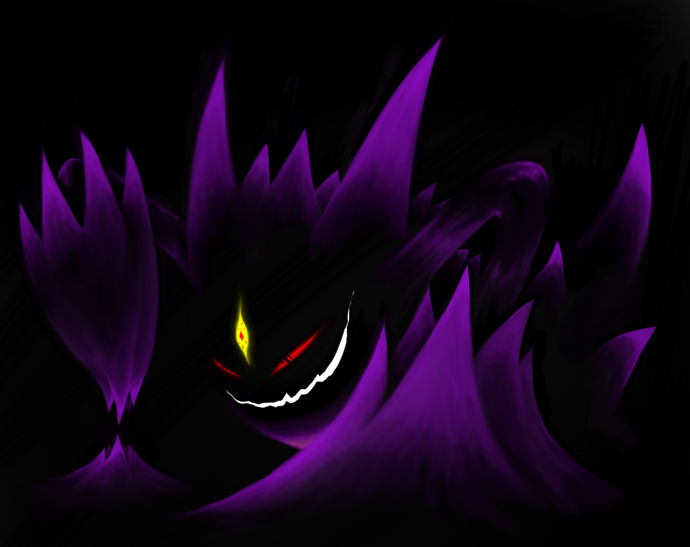 Mega Gengar by Perfect1Up 1000x793