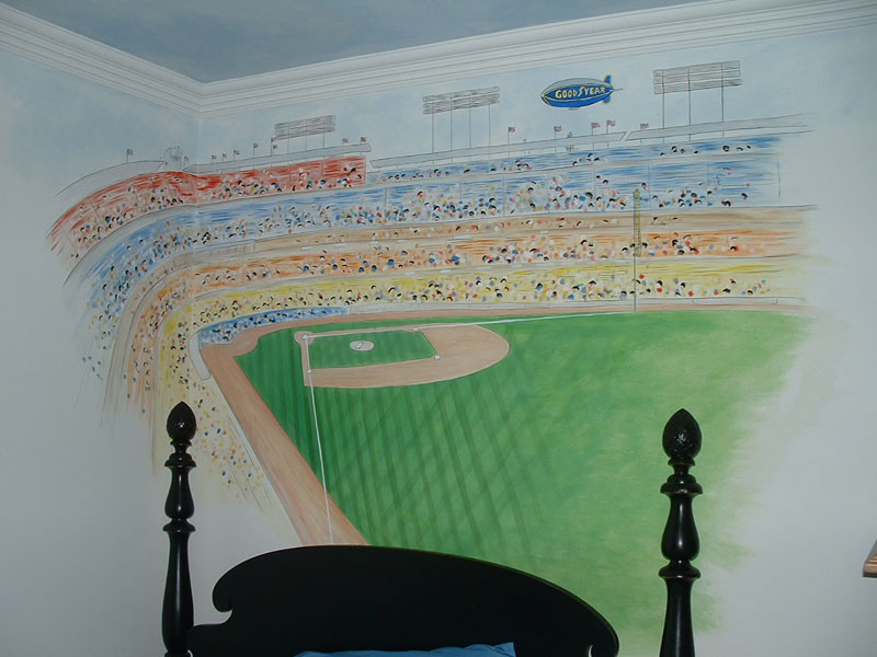 Sports Wall Murals by Colette Sports Themed Rooms 800x600