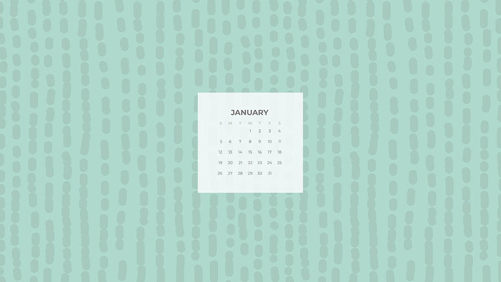 FREE January desktop calendars 24 designs to choose from 1024x576