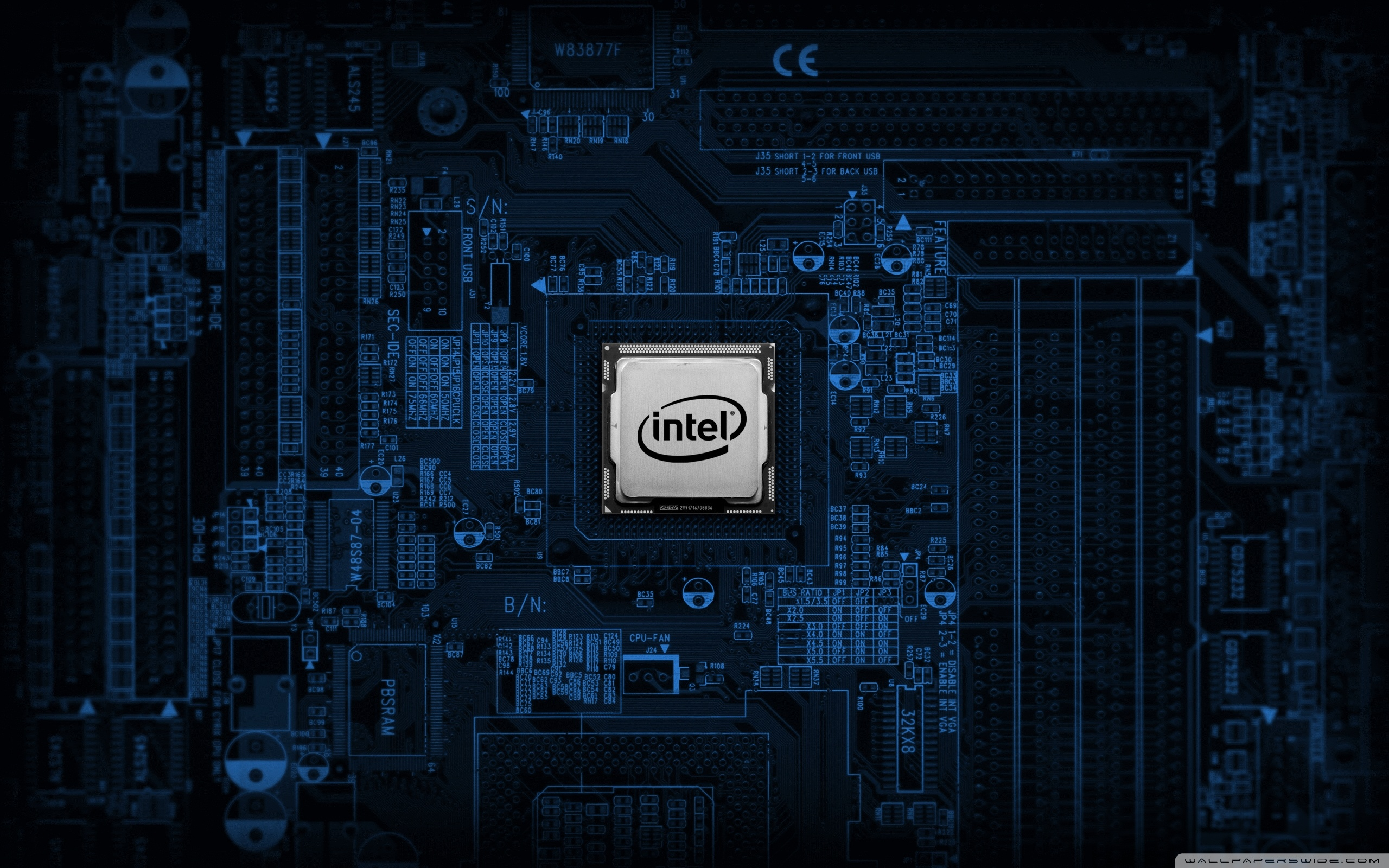 Intel Motherboard 4K HD Desktop Wallpaper for 4K Ultra HD TV 2560x1600