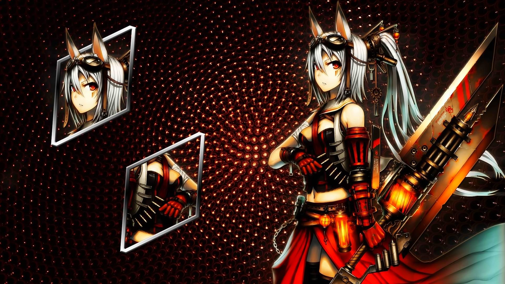 Neko Girl Sword Wallpaper 1920x1080