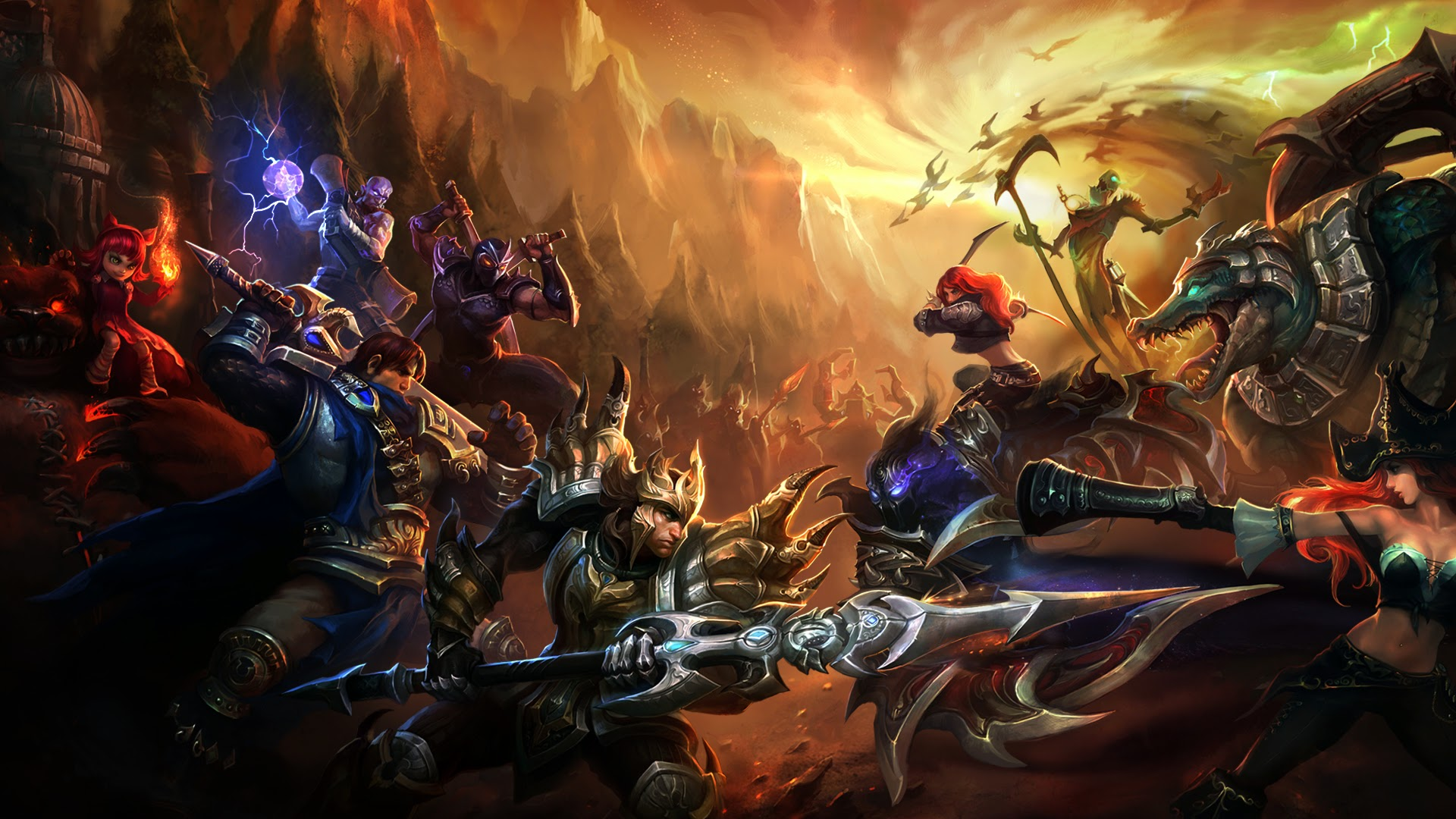 legends champion clash battle fight lol game wallpaper 1920x1080 a097 1920x1080