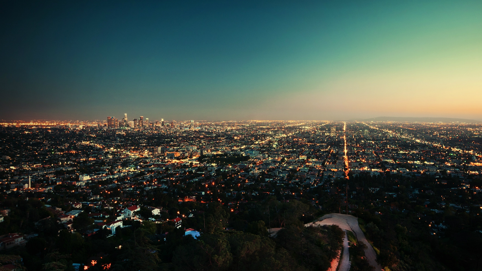 usa los angeles building top view Full HD 1080p HD Background 1920x1080