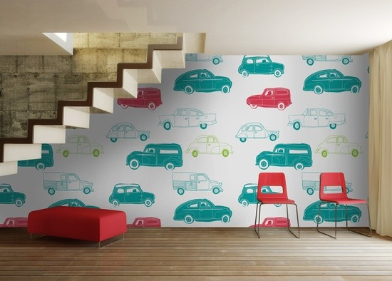 Car wallpaper for kids room wallpapersafari for Kids room wall paper